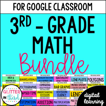 Google Classroom Distance Learning Math 3rd Grade Common Core