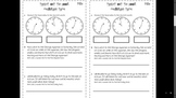 Third Grade Common Core Measurement Assessments MD1, MD2,