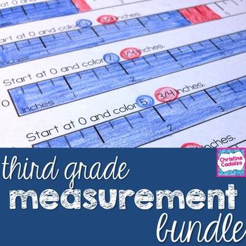 Third Grade Common Core Measurement Bundle