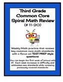 Third Grade Spiral Math Review / Test Prep - CCSS Aligned (2nd Edition)