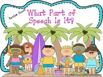Third Grade Common Core Parts of Speech Task Cards