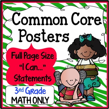 Common Core Posters Full Page (3rd Grade) - MATH ONLY