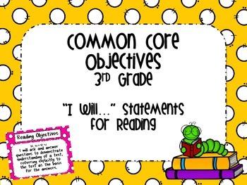 Third Grade Common Core Reading Objectives
