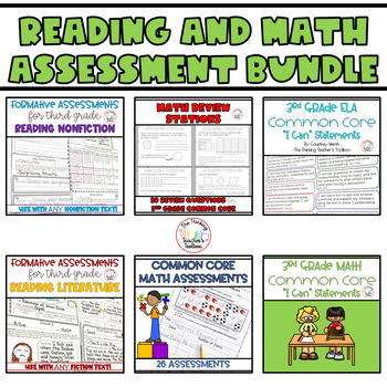 Third Grade Common Core Reading and Math Assessment BUNDLE