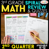 3rd Grade Math Review | Homework or Morning Work | 2nd Quarter
