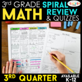 3rd Grade Math Review & Quizzes | Homework or Morning Work | 3rd QUARTER