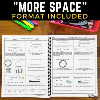 3rd Grade Math Spiral Review | Distance Learning Packet 3rd Grade Math Homework