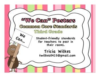 Third Grade Common Core Standards