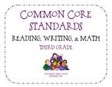 Third Grade Common Core Standards Flip Book