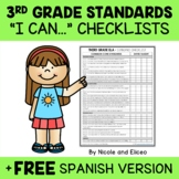 Third Grade Common Core Standards I Can Checklists 1