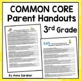 Third Grade Common Core Standards Summary and Parent Handout (Meet the Teacher)