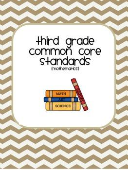 Third Grade Common Core Standards User friendly