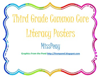 Third Grade Common Core State Standards Posters