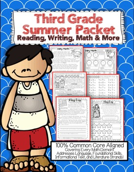 Summer Review Packet Third Grade Common Core: {Reading, Math, Writing, & More}