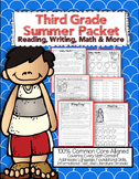 Summer Review Packet 3rd Grade Common Core: {Reading, Math, Writing, & More}