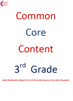 Third Grade Common Core Math Work Operations & Algebraic T
