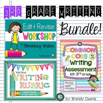 Third Grade Common Core Writing Bundle