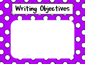 Third Grade Common Core Writing Objectives {Freebie}