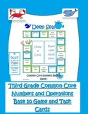 Third Grade  multiplying, adding,subtract and rounding Game & Task Cards
