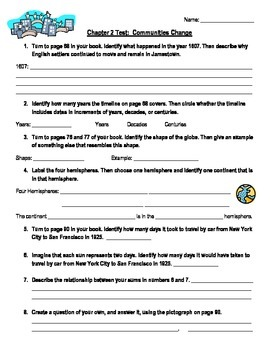 "Third Grade ""Communities Change"" Social Studies Test"