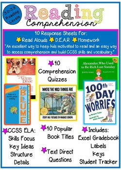 Reading Comprehension of the Week! 3.0-3.9, A Year of Weekly Quizzes!