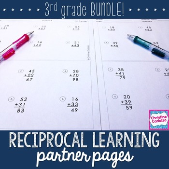 Third Grade Computation Practice Partner Pages- BUNDLE