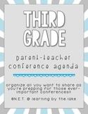 Third Grade Parent-Teacher Conference Agenda