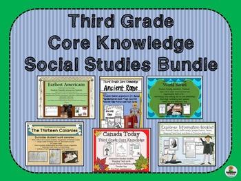 Third Grade Core Knowledge Social Studies BUNDLE