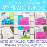 Writer's Workshop Bundle - 3rd Grade (Personal Narrative, Fiction, Poetry)