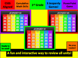 Third Grade Cumulative Math Skills Jeopardy Review Games