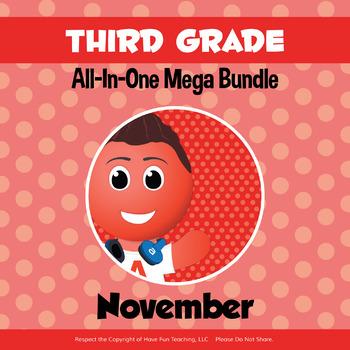 Third Grade Curriculum Bundle (NOVEMBER)