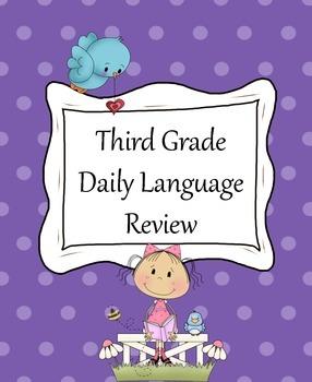 Third Grade Weekly Language Review