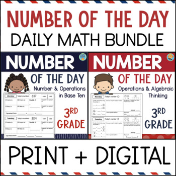 Third Grade Daily Math Number of the Day BUNDLE