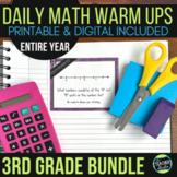 Third Grade Daily Math Warm-Ups: YEAR-LONG BUNDLE