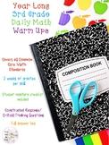 3rd Grade Daily Math Warm Ups (Year-Long)