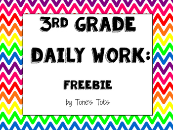 Third Grade Daily Work FREEBIE