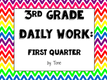 Third Grade Daily Work First Quarter