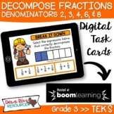 Third Grade Decompose Fractions TEKS Boom Cards | 3rd Grad