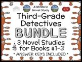 Third-Grade Detectives BUNDLE : 3 Novel Studies for Books #1-3  (79 pages)