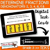 Third Grade Determine Fractions on a Number Line TEKS Boom