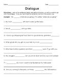 Third Grade Dialogue Worksheet