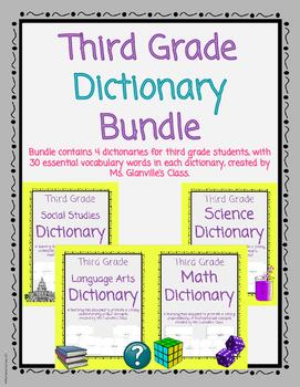Third Grade Dictionary Bundle