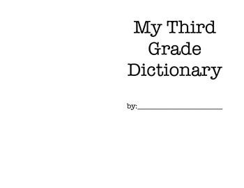Third Grade Dictionary - Word Wall
