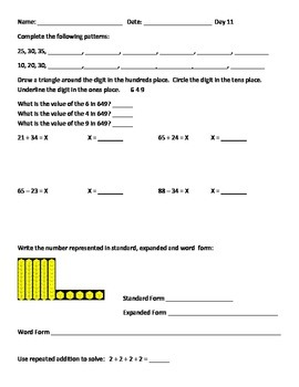 Common Core Differentiated Instruction Math Packet Third Grade