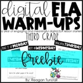 Third Grade Digital ELA Warm-Ups FREEBIE