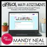 Third Grade Digital Math Assessment Bundle   Distance Learning