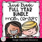 Third Grade DIGITAL Math Centers BUNDLE for GOOGLE Classroom