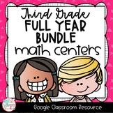 Third Grade DIGITAL Math Centers BUNDLE for GOOGLE Classroom