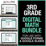 Third Grade Digital Math Games Bundle - for use with Googl