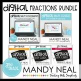 Third Grade Digital Math Fractions Bundle   Distance Learning